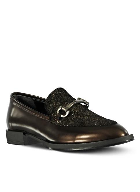 Marjin Loafer Ayakkabı Bronz